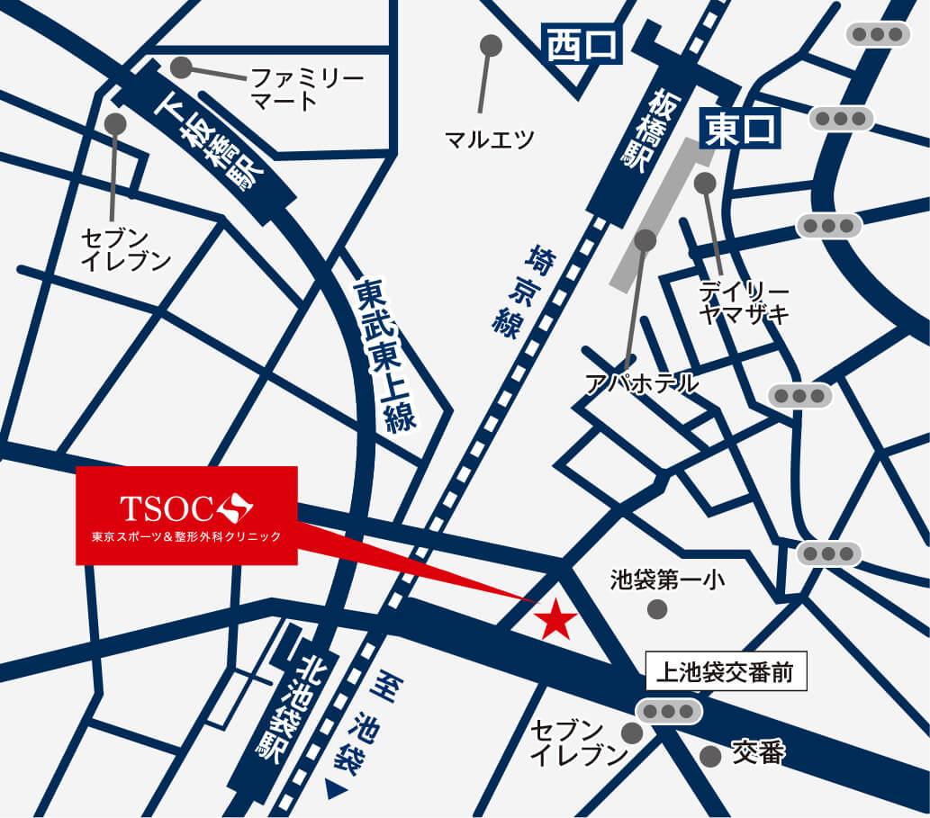 TSOCアクセスマップ